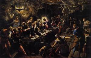Mannerism painting reproductions: The Last Supper 1592-94