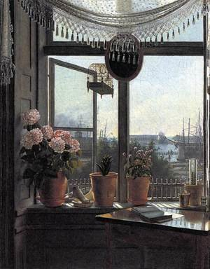 Martinus Rorbye reproductions - View from the Artist's Window c. 1825
