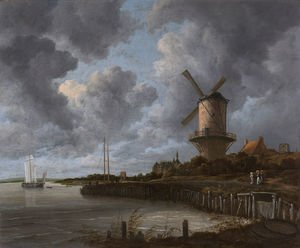 Jacob Van Ruisdael reproductions - The Windmill at Wijk bij Duurstede c. 1670