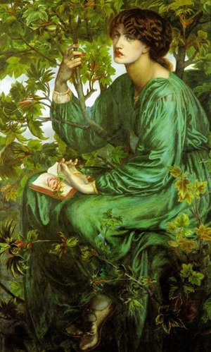 Pre-Raphaelites painting reproductions: The Day Dream 1880