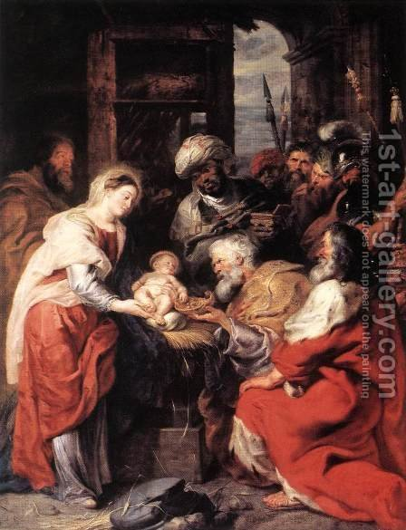 Rubens: Adoration of the Magi 1626-29 - reproduction oil painting