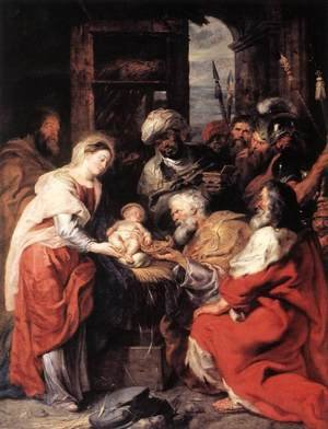 Reproduction oil paintings - Rubens - Adoration of the Magi 1626-29