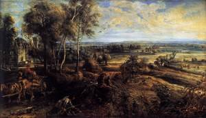 Reproduction oil paintings - Rubens - An Autumn Landscape with a View of Het Steen c. 1635