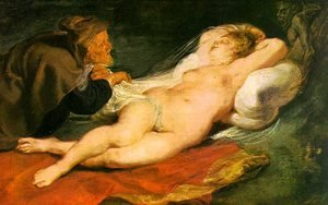 Reproduction oil paintings - Rubens - Angelica and the Hermit  1630s