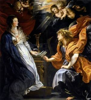 Reproduction oil paintings - Rubens - Annunciation 1609-10