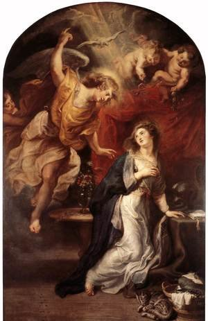 Reproduction oil paintings - Rubens - Annunciation c. 1628