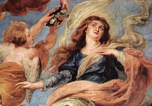 Reproduction oil paintings - Rubens - Assumption of the Virgin (detail-1) 1626