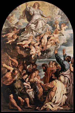 Reproduction oil paintings - Rubens - Assumption of the Virgin c. 1620