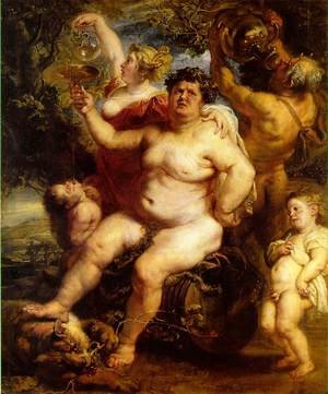 Reproduction oil paintings - Rubens - Bacchus 1638-40