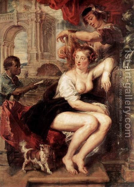 Bathsheba at the Fountain c. 1635 by Rubens - Reproduction Oil Painting