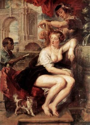 Reproduction oil paintings - Rubens - Bathsheba at the Fountain c. 1635