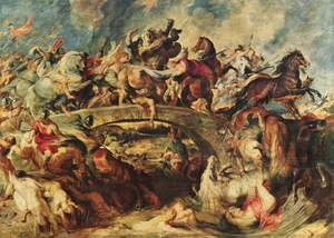 Famous paintings of Horses & Horse Riding: Battle of the Amazons 1618