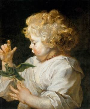 Reproduction oil paintings - Rubens - Boy with Bird c. 1616