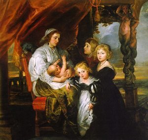 Reproduction oil paintings - Rubens - Deborah Kip and her Children 1629-30