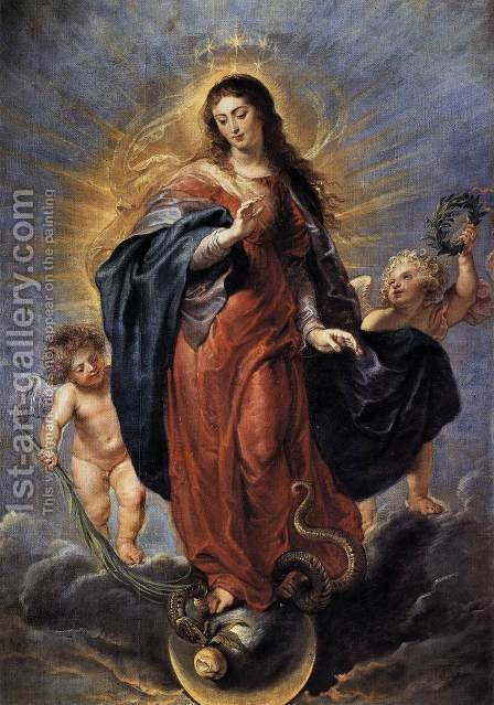 Immaculate Conception c. 1628 by Rubens - Reproduction Oil Painting