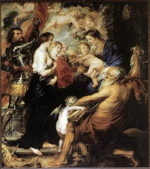 Reproduction oil paintings - Rubens - Our Lady with the Saints 1634