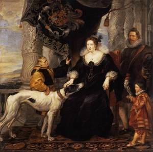 Famous paintings of Men: Portrait of Lady Arundel with her Train 1620