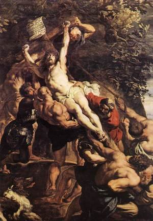 Reproduction oil paintings - Rubens - Raising of the Cross (detail-1) 1610