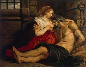 Reproduction oil paintings - Rubens - Roman Charity 1612