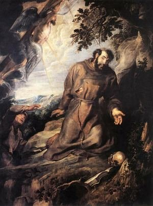 Reproduction oil paintings - Rubens - St Francis of Assisi Receiving the Stigmata c. 1635