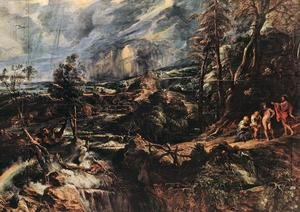 Reproduction oil paintings - Rubens - Stormy Landscape c. 1625
