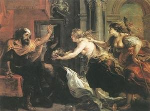 Reproduction oil paintings - Rubens - Tereus Confronted with the Head of his Son Itylus 1636-38