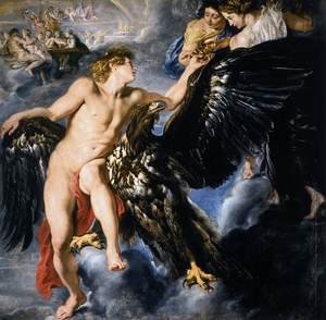Reproduction oil paintings - Rubens - The Abduction of Ganymede 1611-12