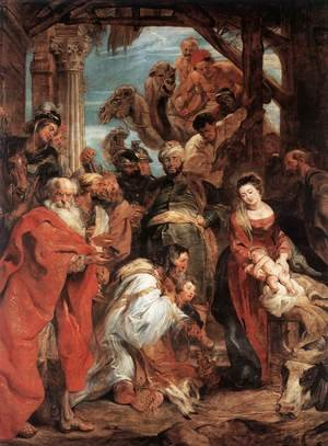 Reproduction oil paintings - Rubens - The Adoration of the Magi 1624