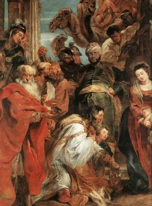 Reproduction oil paintings - Rubens - The Adoration of the Magi (detail-1) 1624
