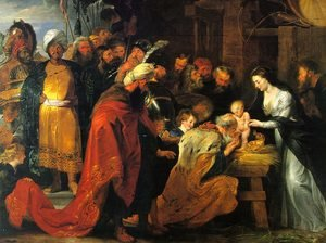 Reproduction oil paintings - Rubens - The Adoration of the Magi 1617-18