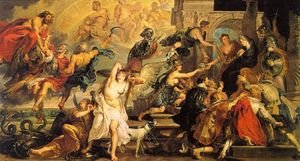 Reproduction oil paintings - Rubens - The Apotheosis of Henry IV and the Proclamation of the Regency of Marie de Medicis on May 14, 1610,  1623-25