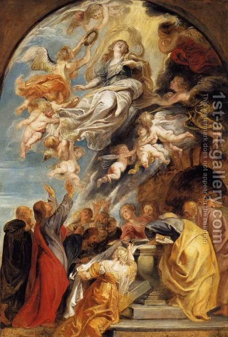 The Assumption of Mary 1620-22 by Rubens - Reproduction Oil Painting