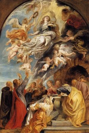 Famous paintings of Angels: The Assumption of Mary 1620-22