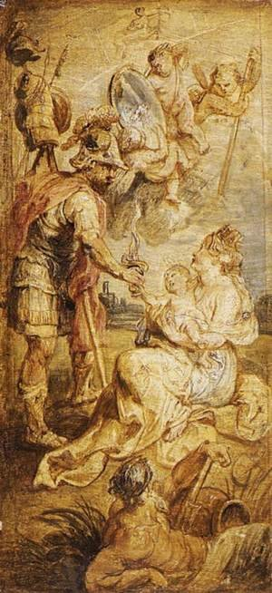 Reproduction oil paintings - Rubens - The Birth of Henri IV of France 1628-30