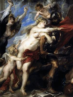 Reproduction oil paintings - Rubens - The Consequences of War (detail) 1637-38