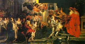 Reproduction oil paintings - Rubens - The Coronation of Marie de' Medici 1622-24