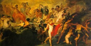 Reproduction oil paintings - Rubens - The Council of the Gods, 1622-24