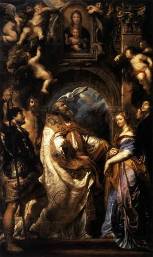 Reproduction oil paintings - Rubens - The Ecstasy of St Gregory the Great 1608