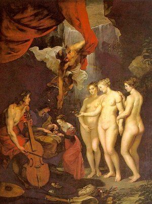 Reproduction oil paintings - Rubens - The Education of Marie de' Medici 1622-24