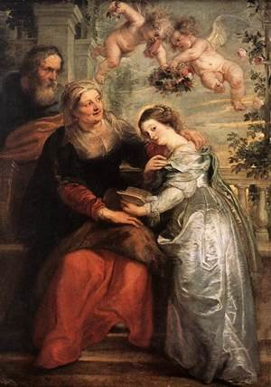 Reproduction oil paintings - Rubens - The Education of the Virgin 1625-26