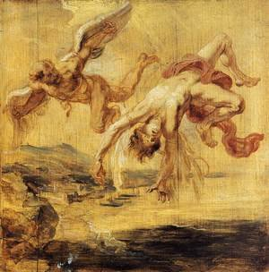 Reproduction oil paintings - Rubens - The Fall of Icarus 1636