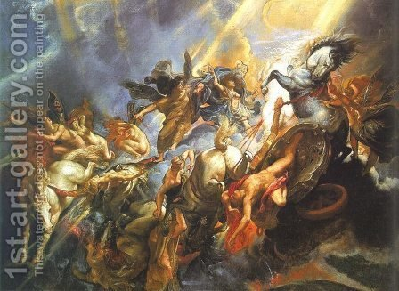 Rubens: The Fall of Phaeton 1605 - reproduction oil painting