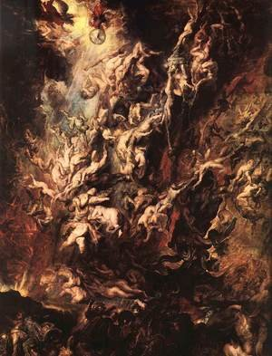 Reproduction oil paintings - Rubens - The Fall of the Damned c. 1620
