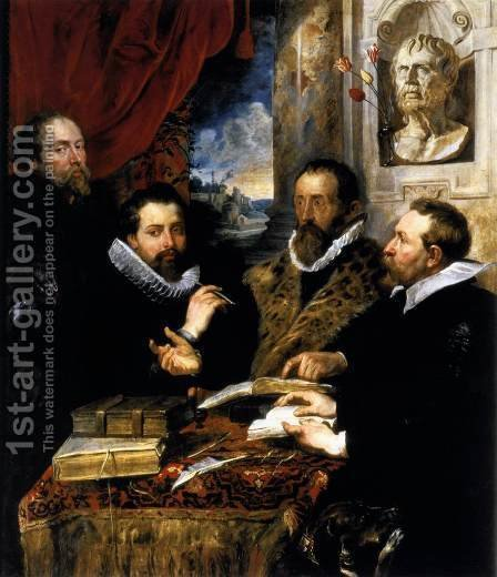 Rubens: The Four Philosophers 1611-12 - reproduction oil painting