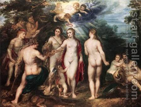 Rubens: The Judgment of Paris c. 1625 - reproduction oil painting