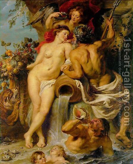 Rubens: The Union of Earth and Water c. 1618 - reproduction oil painting