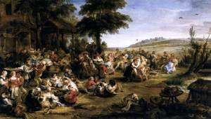 Famous paintings of Villages: The Village Fete (Flemish Kermis) 1635-38