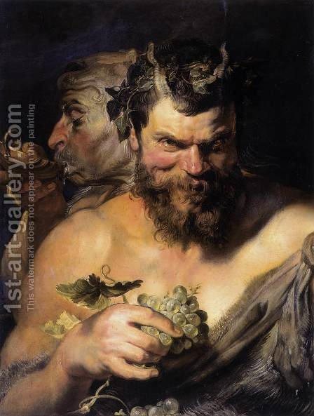 Rubens: Two Satyrs 1618-19 - reproduction oil painting