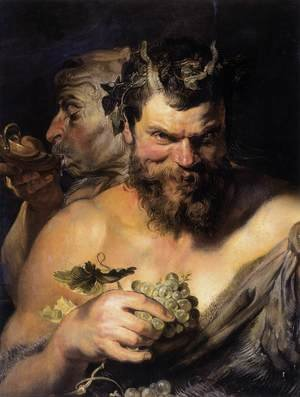 Reproduction oil paintings - Rubens - Two Satyrs 1618-19