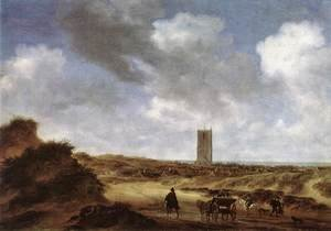 Famous paintings of Villages: View of Egmond aan Zee 1640